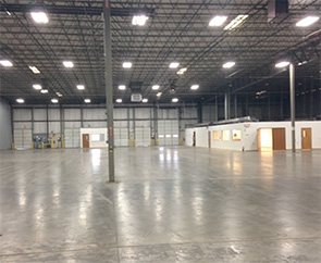 A warehouse as an example of the commercial real estate services we provide.